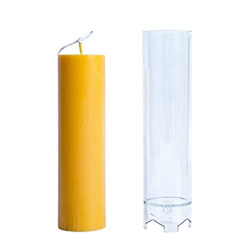 Groust Moldes de velas para fundir Navidad, velas de pilar aroma, yeso, jabón, moldes para manualidades, herramientas caseras, macetas, artesanías, cajas para la fabricación de velas, 4,4 x 17,6 cm