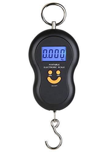 netproshop Digitale Hängewaage Heuwaage Batteriebetrieb max. 45 kg (20x7cm)