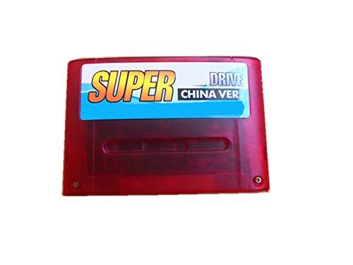 seductive GF Super DIY Retro 800 en 1 Pro Cartucho de Juego Fit para la Tarjeta de Consola de Juegos de 16 bits Versión de China GJF (Color : Red)
