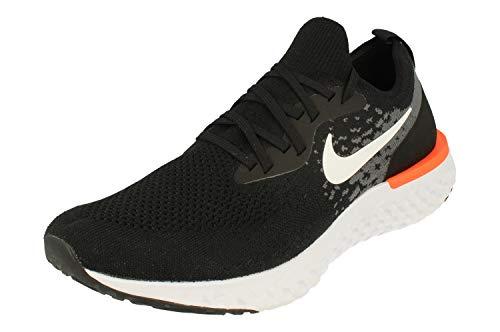NIKE Epic React Flyknit Zapatillas de Running, Hombre, Multicolor (Black/White/Dark Grey/Hyper Crimson 002), 45 EU