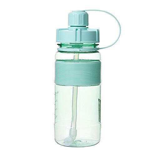 Funight Botella De Agua De 600 Ml / 1000 Ml / 1500 Ml / 2000 Ml, Taza De Agua De Gran Capacidad con Pajita para Deportes Al Aire Libre, Taza De Agua para Acampar Y Fitness Verde3 1000 ml