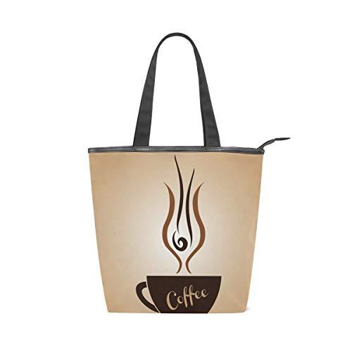 MALPLENA Malpley Damen Handtasche mit Kaffeetasse, Schultertasche