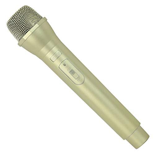 perfk Kinder Mikrofon Spielzeug, Deko Mikrofon Singen Requisiten Party Zubehör Dekoration - Golden