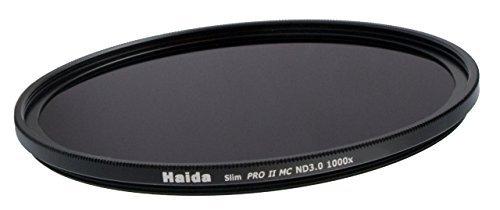 HAIDA Slim Graufilter PRO II MC (mehrschichtvergütet) ND1000x 67mm. Schlanke Fassung + Cap mit Innengriff