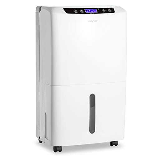 Waykar 40 Pint Dehumidifier for Home and Basements in Spaces up to 2000 Sq Ft,Auto or Manual Drain