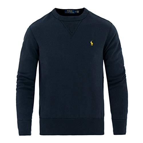 Ralph Lauren, Pullover da uomo a girocollo, stile vintage blu navy S