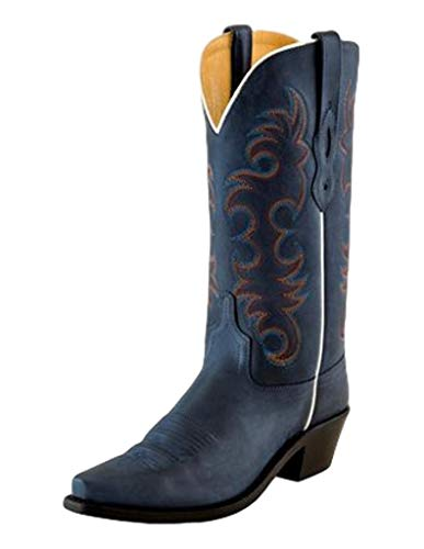 Old West Boots Emma Denim Blue 6