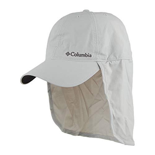 Columbia Schooner Bank Cachalot Schirmmütze mit Nackenschutz, Kunstfaser, Grau (Cool Grey), Einheitsgröße
