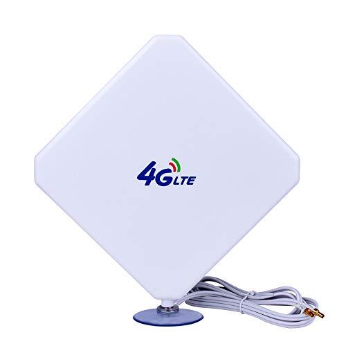 TS9 4G-Antena, 4G LTE Antena Dual Mimo 35dBi Alto Ganancia Red Ethernet Al Aire Libre Antena Receptor Amplificador Booster para WiFi Router Banda Ancha Móvil para Huawei Router Mobile Broadband