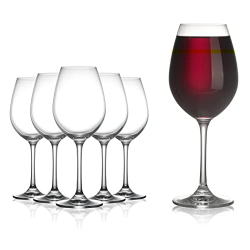 Modvera Stemmed Wine Glass 18 Ounce   Lead Free Crystal Clear Classic...