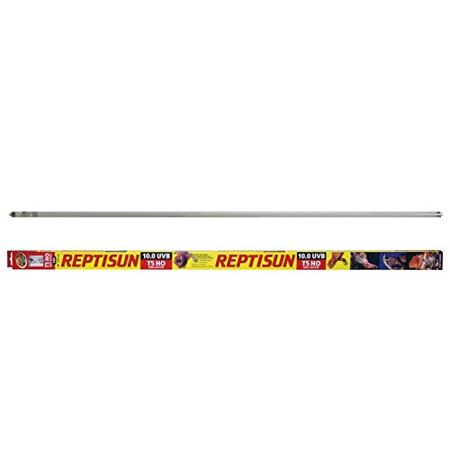 "Zoo Med ReptiSun 10.0 UVB T5HO 54W 46"" Reptile Lighting Fluorescent Tube Bundle with Carolina Custom Cages' Chlorhexidine Solution 2%; 1 Refill Makes 32 oz. of Working Solution"