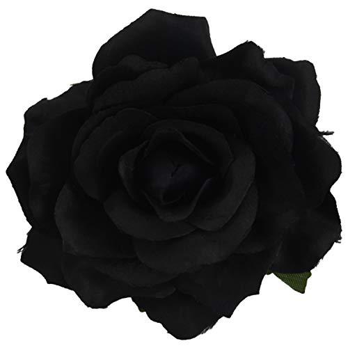 NEYOANN Rose Flower Hair Clip Dancer Pin Up Flower Broche 5 Paquetes Negro