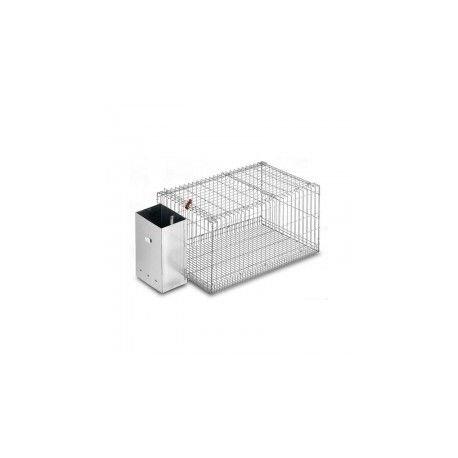 Copele mand voor konijnen, zilverkleurig, 40 x 80 x 37 cm, 11174