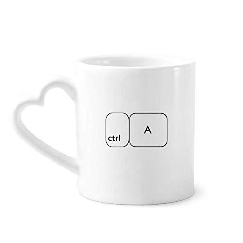 DIYthinker el símbolo Teclado Ctrl a Taza de café de la cerámica Taza de cerámica con la manija 12 oz Regalo del corazón