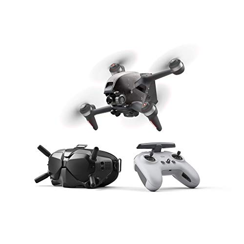 DJI FPV Combo + Care Refresh (Auto-activated)- Drone, Quadcopter, OcuSync 3.0 HD Transmisión, 4k Vídeo, Experiencia de Vuelo Inmersiva, Súper Gran Angular de 150°, Con Care Refresh