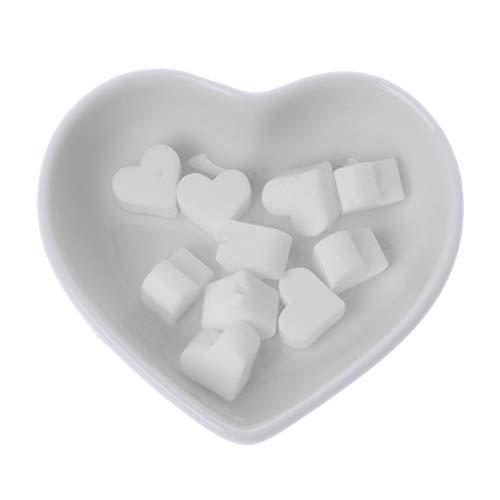 LANDUM 10 Morceaux Perles De Silicone Perles De Dentition en Silicone Love Baby Spielzeug DIY Schnullerkette Zubehör - Blanc