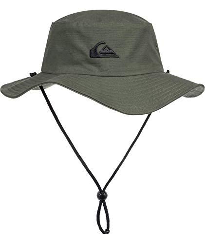 Quiksilver Herren Bushmaster Sun Protection Floppy Visor Bucket Hat Schlapphut, Thymian, L/XL