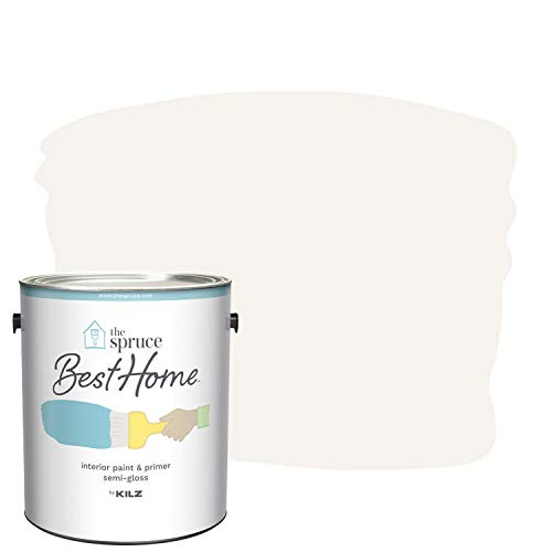 The Spruce Best Home by KILZ 15125001 Interior Semi-Gloss Paint & Primer in One, 1 Gallon, SPR-25 First Frost