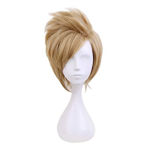 Ff15 Final Fantasy Xv Prompto Argentum Cosplay peluca corta de lino rubio resistente al calor fibra pelo Anime disfraz pelucas Kumz8862