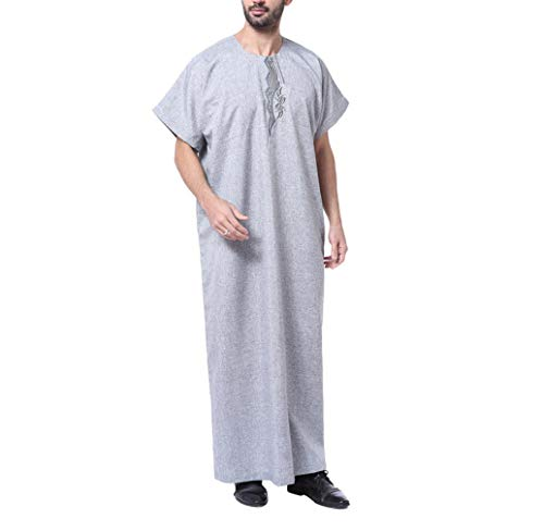 Male Shirt Short Sleeve Kaftan - Islamic Clothing Muslim for sale  Delivered anywhere in UK