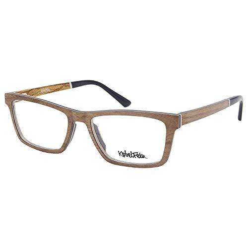 KobelFein Brillengestelle Holz-Brille Herren Damen inkl. Brillenetui (natural)