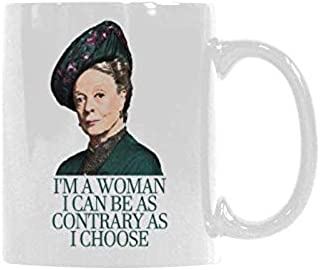 I'm a Woman, I Can Be as Contrary as I Choose Mugs Funny Coffee Mug Drinking Cup Morning Breakfast Drink Ceramic Coffee Cup Gift 11 Ounce