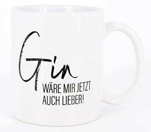 PICSonPAPER Tasse Gin wäre mir jetzt auch lieber! Gintasse, Kaffeetasse, Tasse lustigem Spruch