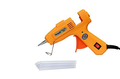 Themisto 20 Watt Mini Hot Melt Glue Gun with 10 Glue Sticks For DIY Art And Crafts.