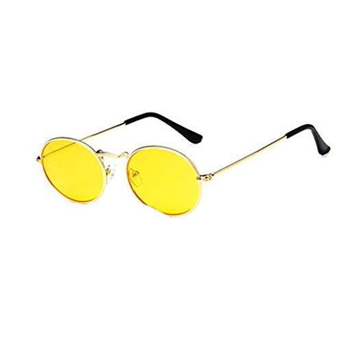 Gafas de sol polarizadas para mujer, estilo vintage, redondas, con espejo, unisex, ligeras, multicolor, ovaladas, con protección UV, montura de metal, para pesca, senderismo, viajes