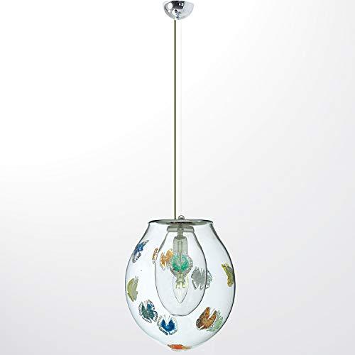 Arte Murano hanglamp vlinders, meerkleurig, eenheidsmaat