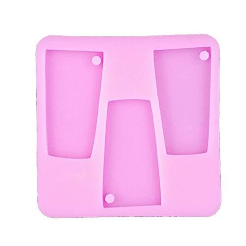Ritapreaty Tumbler siliconen mal, DIY sleutelhanger bakgereedschap taartvorm 3.62 x 3.62 x 0.35 inch【5 stuks】