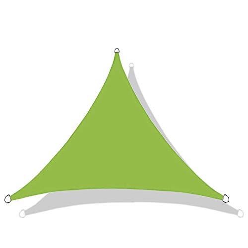 QI-CHE-YI Shade Sail, 95% de protección UV, 4.5 * 4.5 * 4.5m Patio Neto de Sombra, Sombra de jardín Cobertizo, Terraza al Aire Libre Protección Solar Sombra Curvada Sombra Tienda,Verde