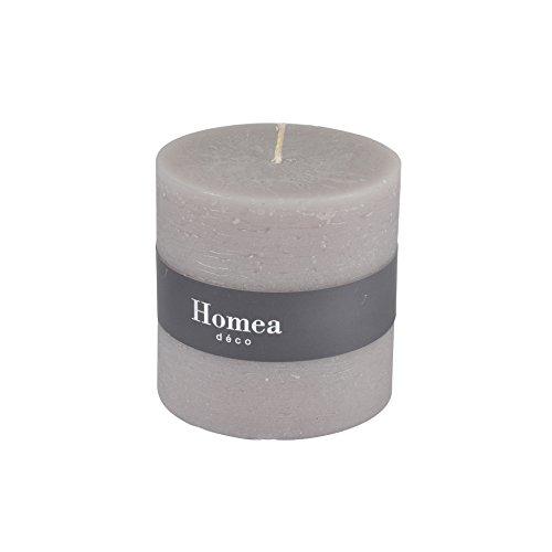 homea 6bpc021ta Kerze Zylindrische Paraffin taupe 10x 10x 10cm