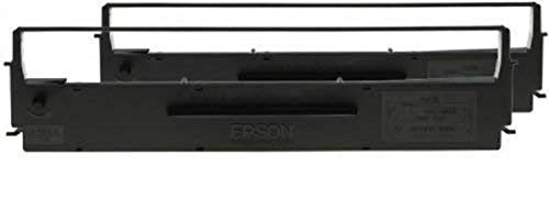Epson SIDM Black Ribbon Cartridge - Cinta de impresoras matriciales (LX-350/300+/300+II, Negro, Matriz de punto, 4000000 caracteres, Negro, Epson), Ya disponible en Amazon Dash Replenishment ✅