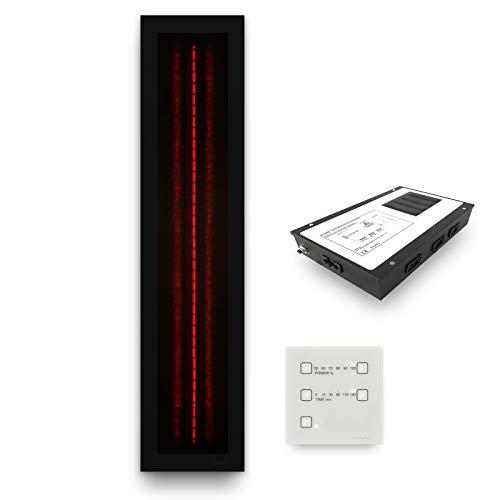 Infrarotstrahler Sauna RotLicht Frame Black Set-1, artvion (1300 Watt)