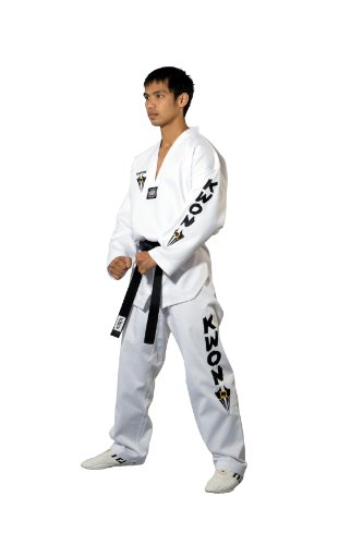 Kwon Divisa da Sport di Combattimento Taekwondo Starfighter Interno Bianco, Bianco (Weiß), 170 cm