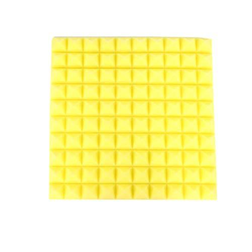 6 Stück Schallschutzschaum 500X500X50mm Schallschutzraum Schallabsorbierender Ziegel-Polyurethanschaum, gelb, Einheitsgröße