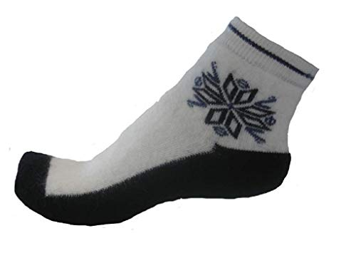 Moser care and support wear Fußwärmer (Paar), mit Schneekristall, 40% Angoraanteil, Socken (weiß/anthrazit, 39/41-M)