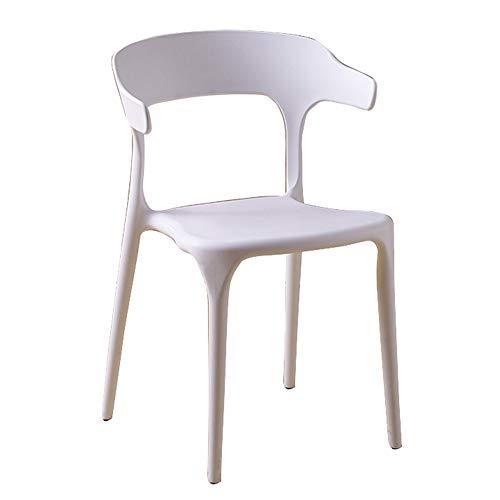 Dossier de chaise en plastique moderne minimaliste maison paresseux chaise Café de thé nordique tables et chaises (Couleur : H)