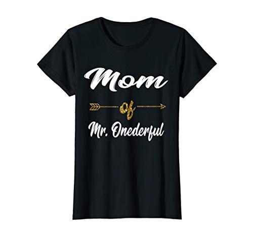 Womens Funny Mom of MR. Onederful Wonderful 1st birthday boy Shirt T-Shirt