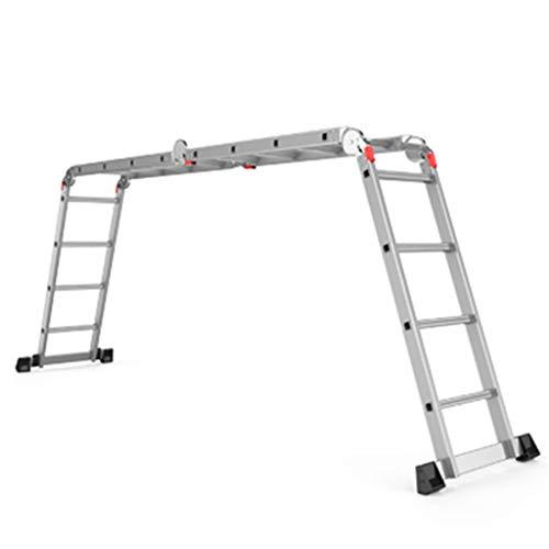 Haushaltsleiter Folding Herringbone Leiter Aluminiumlegierung Eindickung Multifunktionale Ladder Tragbare Technik Hebe Treppen Teleskop Stabilität und Sicherheit