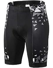 Inbike Fietsbroek heren dames ademend met 3D kussen gel fietsbroek heren fietsen super rekbaar reflecterend zwart