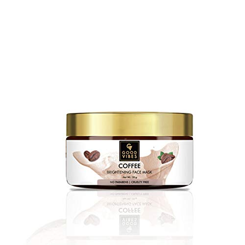 Good Vibes Coffee Brightening Face Mask, 50 g Naturally Exfoliates For Smooth & Soft Skin, Helps Reduce Acne, No Parabens & Sulphates