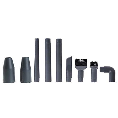 HHuin 9 unids/Set Accesorios de aspiradora universales Juego de Cepillo de Esquina Multifuncional Boquilla de plástico