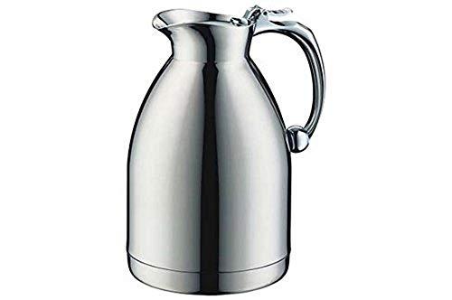 alfi Thermoskanne Hotello, doppelwandiger Edelstahl poliert 1,0l, geignet für Hotel und Gastronomie, Isolierkanne 0557.000.100 hält 8 Stunden hieß, Kaffeekanne oder Teekanne für 8 Tassen