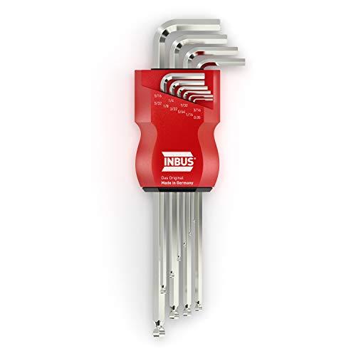 INBUS® 70419 Inbusschlüssel Set (Zoll) 10tlg, 0.05–5/16