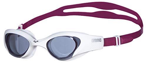 arena The One Anti-Fog Schwimmbrille Damen, Schwimmbrille mit Breiten Gläsern, UV-Schutz, Selbstjustierender Nasensteg, Orbit-Proof Dichtungen