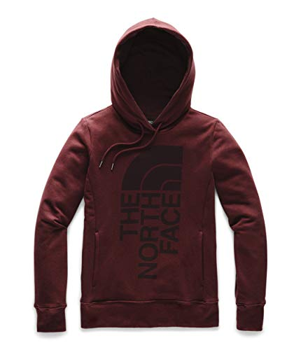 The North Face Women's Trivert Patch Pullover Hoodie, Deep Garnet Red, XS