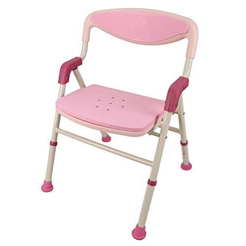 Silla De Baño Bañera Silla De Ducha Conveniente baño plegable y silla de ducha con brazos y espalda, altura de asiento ajustable, silla de asiento de baño plegable de viaje Adecuado Para Personas Mayo