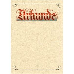 10 x RNK Urkundenvordruck Elefantenhautpapier A4...